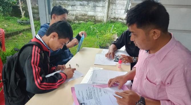 Pendaftaran anggota Panwascam Tanah Datar