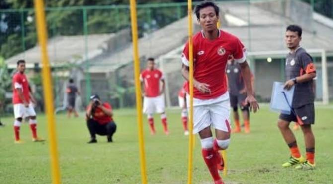 Syaiful Indra Cahya saat latihan bersama Semen Padang FC.