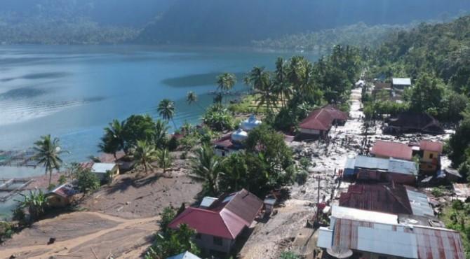 Kondisi Jorong Galapuang dari ketinggian