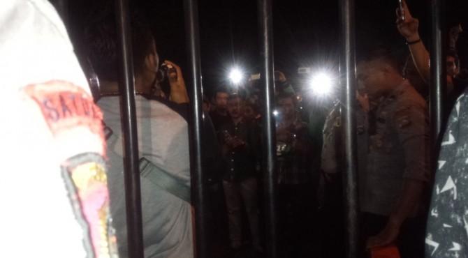 Seribuan driver ojol mendatangi Mapolresta Padang