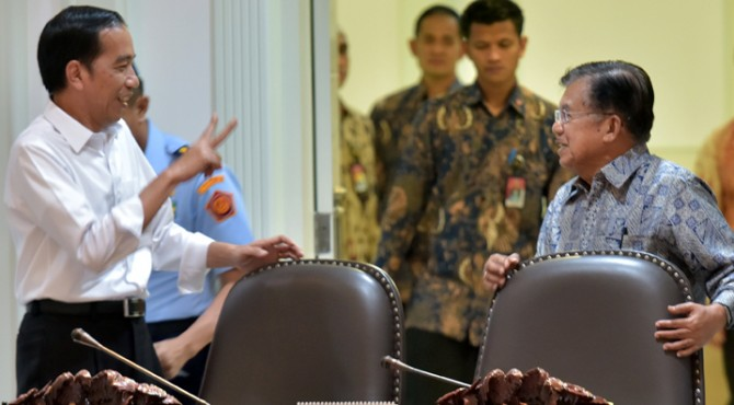 Presiden Joko Widodo (Jokowi) dan Wakil Presiden Jusuf Kalla
