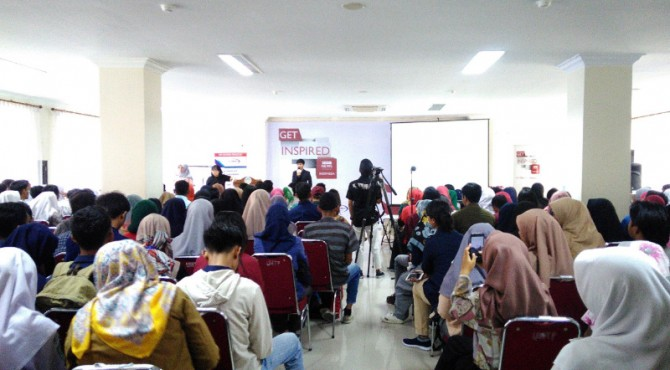 Kegiatan BBC Indonesia Get Inspired 2019 di UNP pads Selasa (12/2)