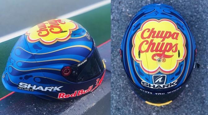 Helm spesial yang akan digunakan Lorenzo di balapan terakhirnya di MotoGP