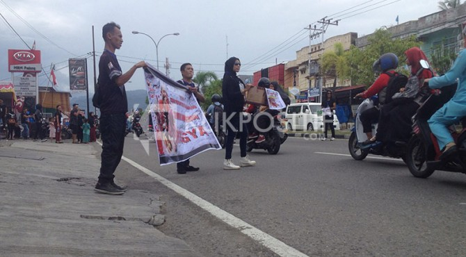 Aski Galang Dana yang Dilakukan IPKRM di Jalan Soetomo Kota Padang