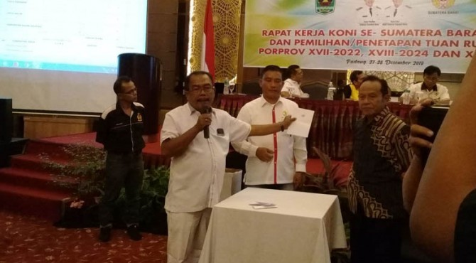 Kota Padangpanjang dan Kabupaten Tanah Datar terpilih dan ditetapkan sebagai tuan rumah Pekan Olahraga Provinsi (Porprov) XVII tahun 2022.