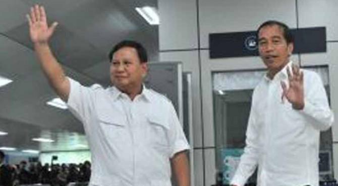 Prabowo Subianto dan Presiden Terpilih Joko Widodo