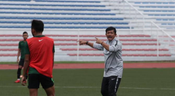 Indra Sjafri beri menu latihan ringan pada pemain Timnas U-23