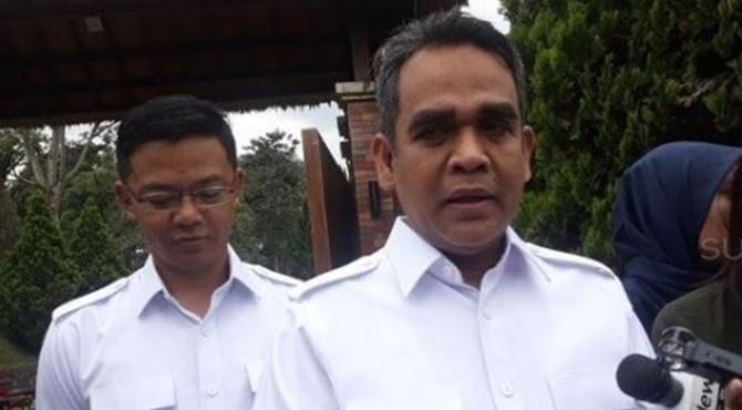 Sekretaris Jenderal Gerindra Ahmad Muzani di kediaman Prabowo di Hambalang