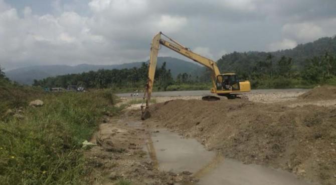 Normalisasi dan penguatan tebing Batang Sumpur, Kabupaten Pasaman