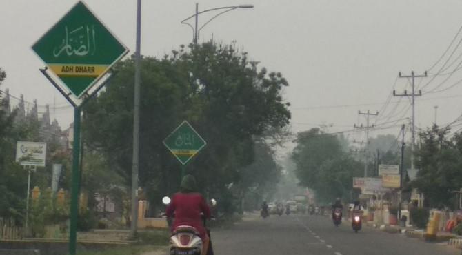 Kabut asap yang menyelimuti Koto Solok