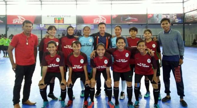 Tim Futsal putri, Queen FC wakili Sumbar dalam ajang LFN tingkat Nasional.