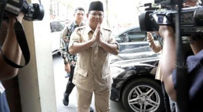 Capres nomor urut 02 Prabowo Subianto