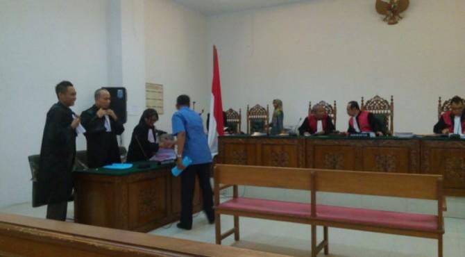 Sidang Kedua Kerusaksan Mangrove di Pessel yang digelar di Pengadilan Negeri Klas I A Padang, Selasa 25 September 2019