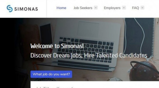 Aplikasi Simonas, untuk para pencari kerja.