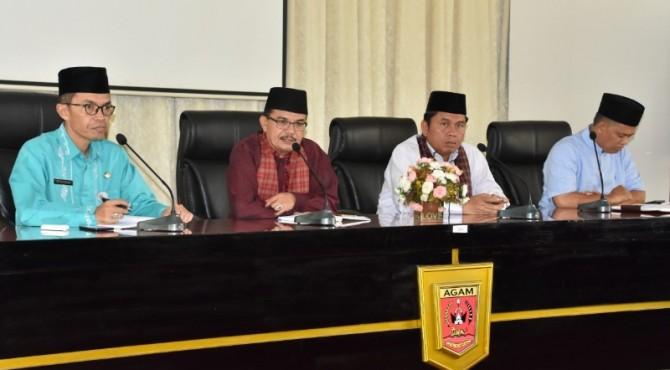 rapat konversi zakat fitrah bersama Pemerintah Kabupaten Agam,