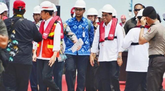 Presiden Jokowi tinjau Pelabuhan Patimban