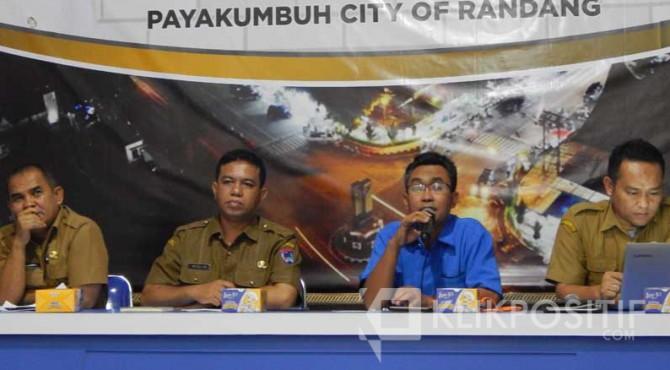 Pelaksanaan Senin Cerdas pertama di Ruang Media Centre Pemko Payakumbuh.