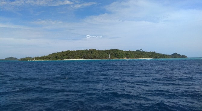 Salah satu pulau di Mentawai