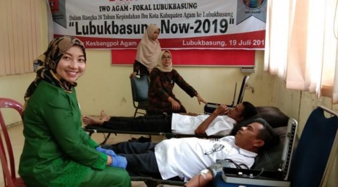 Sekda Agam Ikut donor darah