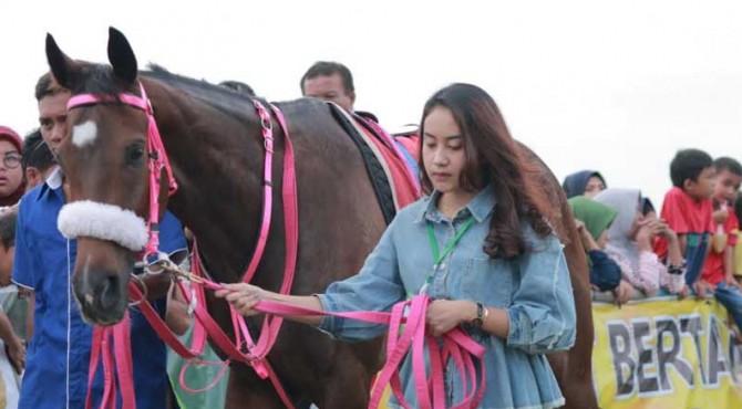 Salah satu kuda yang turun dalam ajang Lebaran Cup di Payakumbuh, Juli lalu.