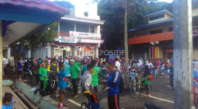 Peserta Gowes Pesona Nusantara di Payakumbuh