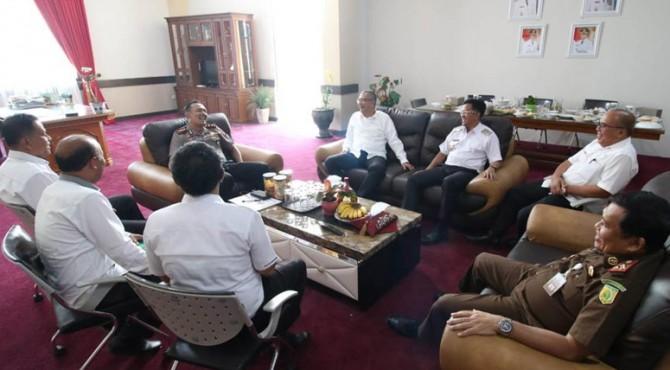 Pertemuan Forkopimda Payakumbuh jelang pelantikan presiden dan wakil presiden.