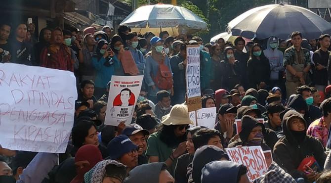 Massa aksi #GejayanMemanggil pada Senin 30 September 2019 di Yogyakarta.