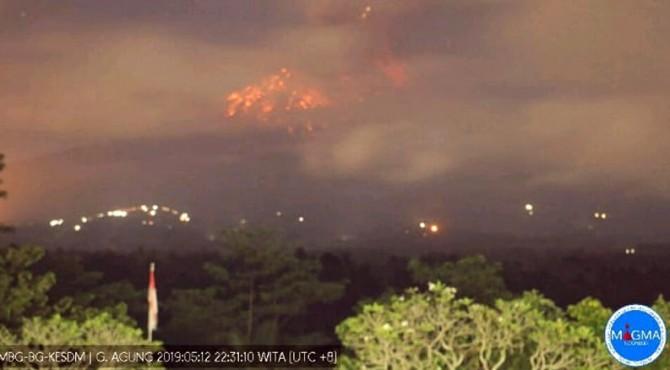 Erupsi Gunung Agung, Minggu 12 Mei 2019