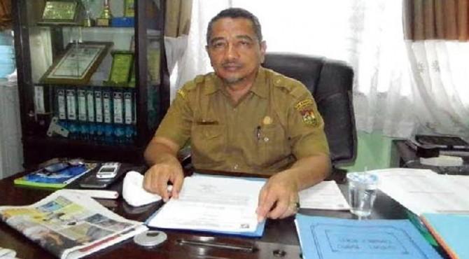 Surya Budhi saat menjabat Kepala BPM Kampar, Riau.