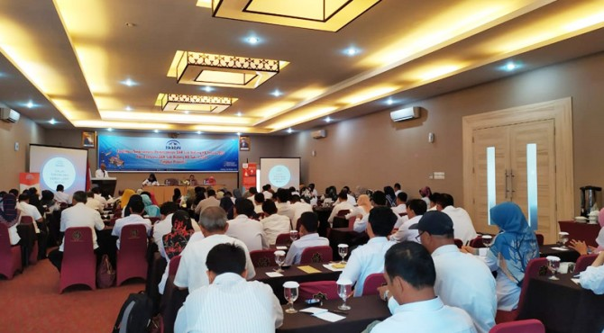 Kegiatan Fasilitasi Singkronisasi Perencanaan DAK Sub Bidang KB tahun 2020 dan Evaluasi DAK Sub Bidang KB Tahun 2019, di hotel Rangkayo Basa, Rabu (30/10)