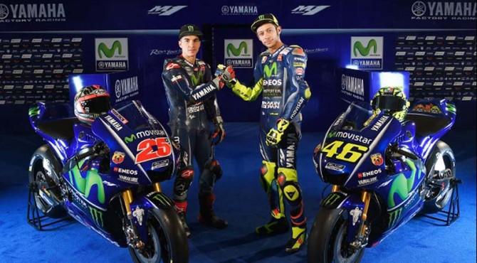 Dua Pebalap Movistar Yamaha Vinales dan Rossi untuk Musim MotoGp 2017