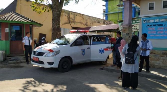 Korban kecelakaan yang dirujuk ke RSUD Achmad Muchtar Bukittinggi.