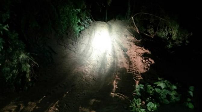 akses jalan darurat penghubung dua desa di Sijunjung