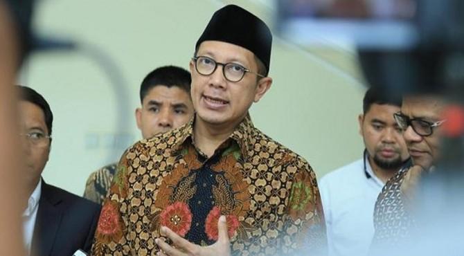 Menteri Agama Lukman Hakim Saifuddin usai rapat di Kantor Wapres