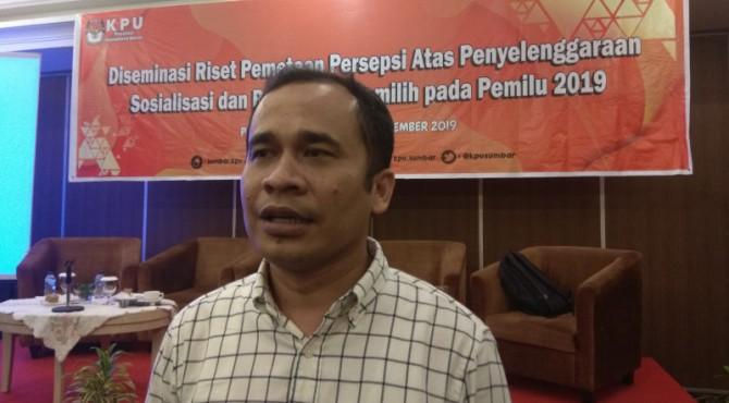 Kordinator Divisi Sosialisasi, Pendidikan Pemilih dan SDM KPU Sumatera Barat (Sumbar) Gebril Daulay