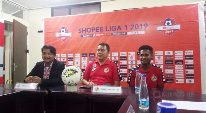 Technical meeting Semen Padang FC kontra Perseru BL FC.