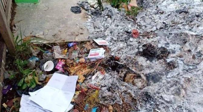 Kasus pembakaran surat suara di Jambi.