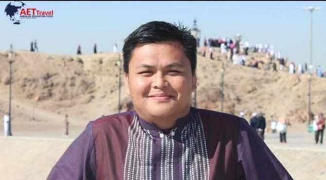 Direktur Utama AET Travel Rizki Kurniawan N.