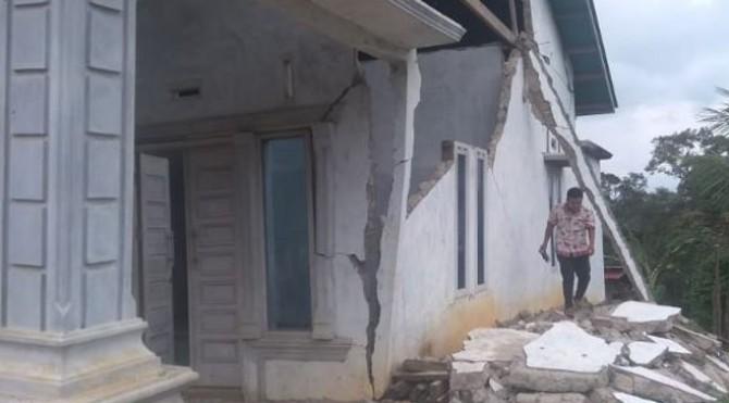 Dampak Gempa di Kabupaten Solok Selatan