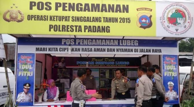 Pos Pengamanan Lebaran di kawasan Lubeg Padang pada tahun 2015 yang lalu