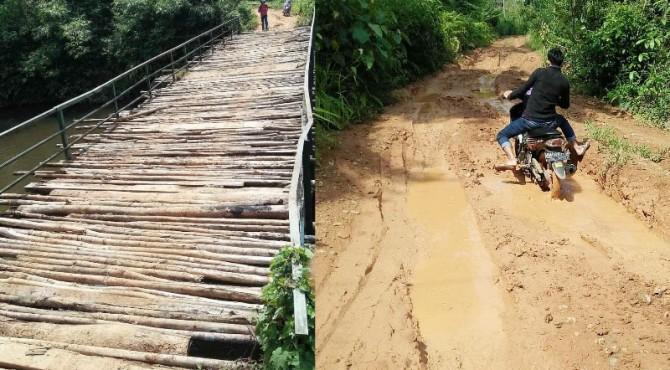 kondisi jembatan dan jalan yang mempriahtinkan di Nagari Muaro Tais Koto Gadang.