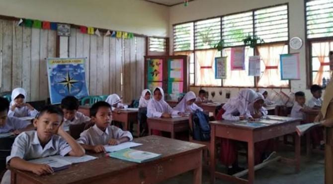 kegiatan belajar mengajar di SD Negeri 22 Pasaman
