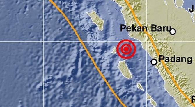 Peta lokasi gempa