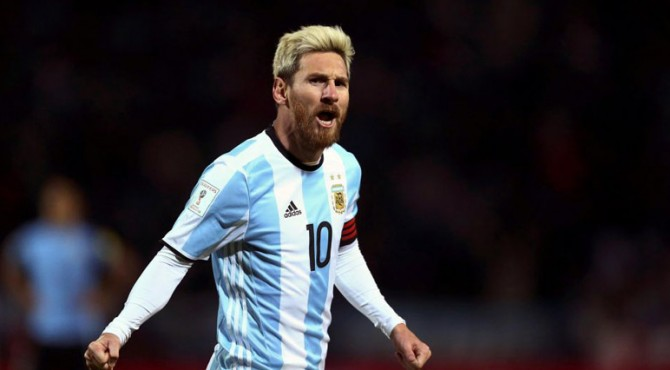 Pemain Argentina Lionel Messi.
