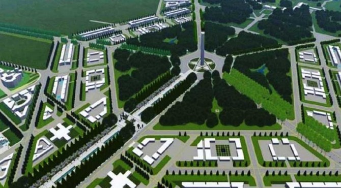 Konsep pembangunan ibukota negara di Kalimantan Timur.