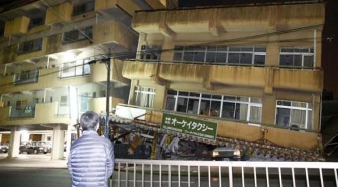 Gempa merusak bangunan di Kumamoto, Jepang bagian selatan, pada 16 April 2016). Regulator nuklir Jepang menyatakan bahwa tidak ada masalah keamanan di pangkalan nuklir Sendai, yang memiliki dua reaktor dan terletak sekitar 120 kilometer arah selatan-tenggara Kota Kumamoto, setelah gempa.
