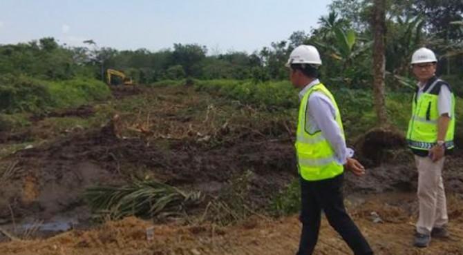 Pembukaan kerangka ruas Tol Padang-Pekanbaru