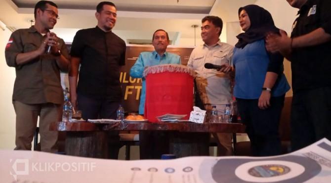 Launching Silokek Geofast Rafting World Cup (SGRWC) 2019 di Kota Padang, Kamis (31/10/2019)