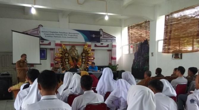 Pembukaan Pelatihan Manajemen Organisasi Pemuda di Sawahlunto, Selasa 16 Juli 2019