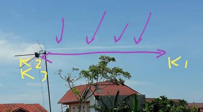 Pengamatan awan gempa dari Kota Padang
